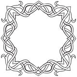 Celtic knot square frame. Vector illustration of Celtic knot square frame black and white Royalty Free Illustration