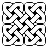 Celtic knot vector illustration Stock Photos
