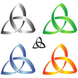 Celtic Knots. Illustration of celtic knots in different colors Stock Photo