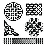 Celtic knots, braids and patterns - St Patrick's Day in Ireland Stock Images