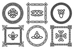 Celtic knots frames stock illustration