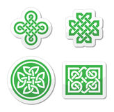 Celtic knots patterns -  Stock Image