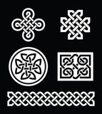 Celtic knots patterns on black background - vector Royalty Free Stock Photos