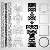 Celtic knots, patterns, frameworks. Set of Celtic knots, patterns, frameworks. Vector illustration Royalty Free Stock Images