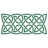 Celtic knots shamrock ornament. Traditional medieval frame pattern illustration. Scandinavian or Celtic ornament as border or frame Stock Photo