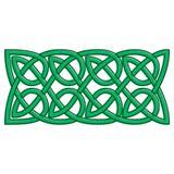 Celtic knots shamrock ornament. Traditional medieval frame pattern illustration. Scandinavian or Celtic ornament as border or frame Stock Images