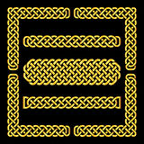 Celtic knots vector borders and corner elements Royalty Free Stock Image