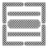 Celtic knots vector medieval borders and corner elements Stock Image