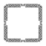 Celtic knots vector medieval frame in black and white Royalty Free Stock Images