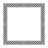 Celtic knots vector medieval frame in black and white Royalty Free Stock Image