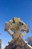 celtic kyrkogårdgravstentemplemichael Arkivbild