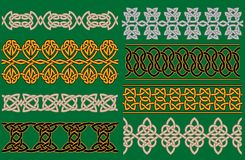 Celtic linear borders and ornaments Royalty Free Stock Photography