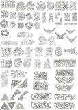 Celtic motifs. Ornaments and sings Royalty Free Stock Images