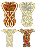 Celtic motifs. Abstract celtic color design works - zoomorph motifs Stock Photography