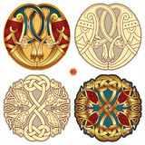 Celtic motifs. Abstract celtic color design works - zoomorph motifs Royalty Free Illustration