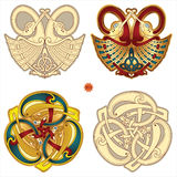 Celtic motifs. Abstract celtic color design works - zoomorph motifs Royalty Free Stock Photos