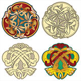 Celtic motifs. Abstract celtic color design works - zoomorph motifs Stock Photo