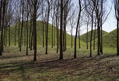 Celtic mystical grave mounds from the iron age Stock Photos