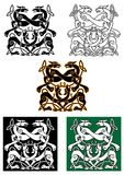 Celtic mythical animals traditional ornament Royalty Free Stock Photography