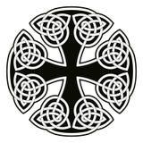 Celtic national cross. Celtic cross. National ornament on white background stock illustration