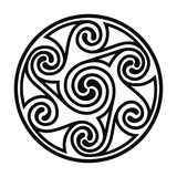 Celtic national drawing. Stock Photography