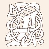Celtic national ornament. Letter A with Celtic national ornament isolated on a beige background royalty free illustration