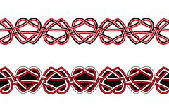 Celtic national ornament. Seamless Celtic national ornament interlaced ribbon isolated on white background Stock Images