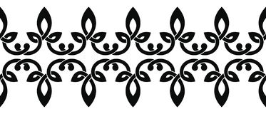 Celtic national ornament. Seamless Celtic national ornament interlaced ribbon isolated on white background. Element for graphic design royalty free illustration