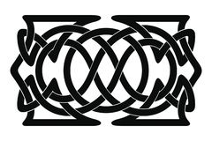 Celtic national ornament. Set of Celtic national ornament interlaced ribbon isolated on white background. Element for graphic design royalty free illustration