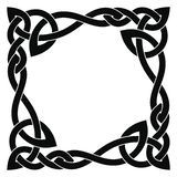 Celtic national ornament. Square frame with Celtic national ornament interlaced ribbon isolated on white background. Element for graphic design royalty free illustration