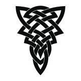Celtic national ornament tattoo. Royalty Free Stock Photo