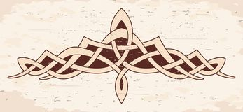 Celtic national ornament. Vector Celtic national ornament for tattoo on brige background with the effect of aging vector illustration