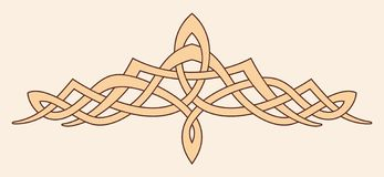 Celtic national ornament. Vector Celtic national ornament for tattoo isolated on brige background vector illustration
