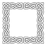 Celtic national seamless ornament interlaced tape - frame. Celtic national seamless ornament interlaced tape - cornor frame Stock Photo