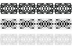 Celtic national seamless ornament. Set of Seamless Celtic national ornament interlaced ribbon isolated on white background. Element for graphic design vector illustration