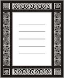 Celtic ornament. Al knotwork blank postcard Royalty Free Stock Image