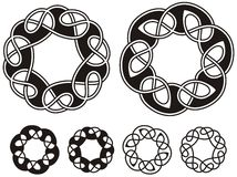Celtic ornament. Celtic black & white ornamental knotwork design Royalty Free Stock Images