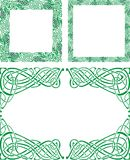 Celtic ornament borders Royalty Free Stock Images