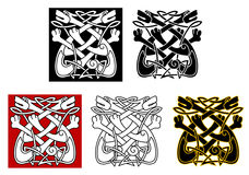 Celtic ornament with dogs Royalty Free Stock Photos