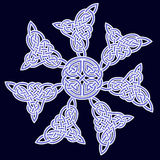 Celtic ornament of flowers Stock Photos