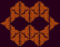 Celtic ornament of flowers Royalty Free Stock Images