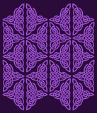 Celtic ornament of flowers Royalty Free Stock Photo