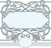 Celtic ornament frame style. Stock Photo