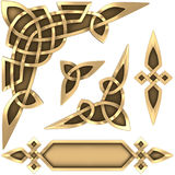 Celtic ornament gold Royalty Free Stock Photography