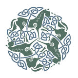 Celtic ornament with horses Stock Images