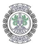 Celtic ornament with tree of life , decorative curls in circle. For tattoo, design Royalty Free Illustration