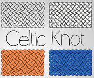 Celtic ornament white yellow blue Royalty Free Stock Photos