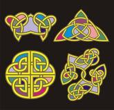 Celtic ornamental designs. A set of Celtic ornamental designs Royalty Free Stock Photos