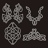 Celtic ornamental designs Royalty Free Stock Photo