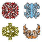 Celtic ornamental designs Stock Photos